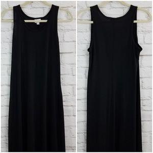 LuLaRoe Dani Maxi Dress Black Sleeveless Medium